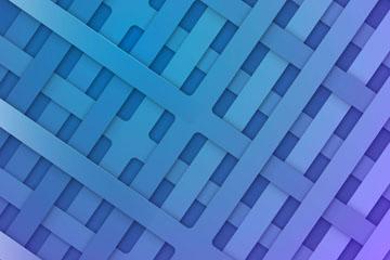 蓝色编织网格背景矢量素材