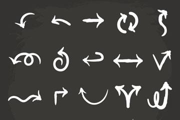 20款手绘箭头设计矢量素材