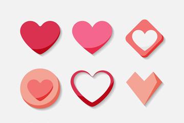 9款创意爱心设计矢量素材