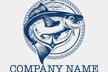彩绘鱼商务公司标志矢量素材