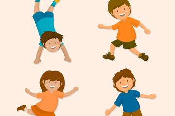 4款创意活泼的儿童矢量素材