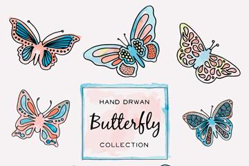 8款手绘蝴蝶矢量素材