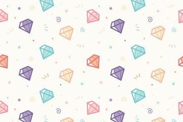 彩色钻石无缝背景设计矢量素材