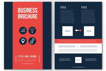 时尚商务宣传册设计矢量图