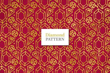 创意钻石花纹无缝背景矢量图