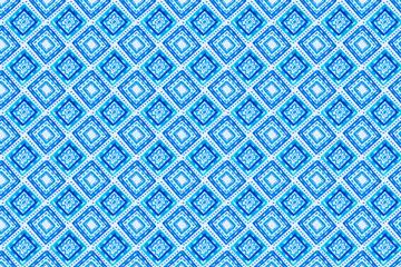 蓝色菱形花纹无缝背景矢量图