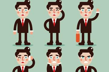 6款创意商务男子矢量素材