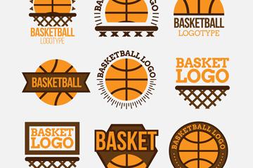 9款创意篮球标志矢量素材