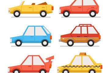 9款彩色车辆设计矢量素材