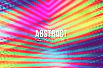 抽象彩色曲线背景矢量素材