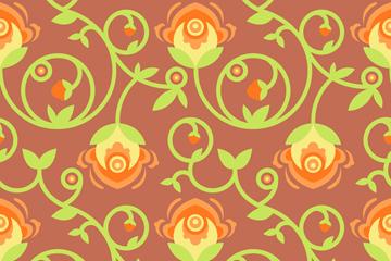 创意花卉花蔓背景矢量素材