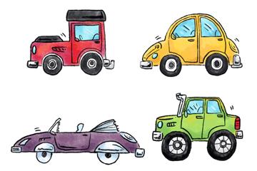 4款彩�L卡通��v矢量素材