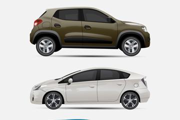 3款时尚轿车设计矢量素材