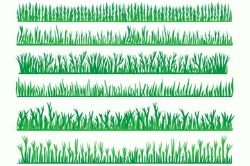 8款绿色草丛设计矢量素材
