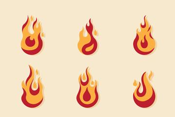 9款创意火焰设计矢量梦之城娱乐