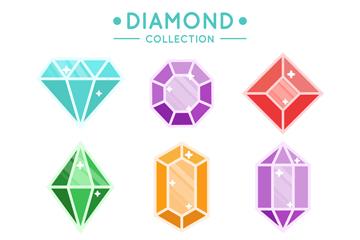 9款彩色宝石设计矢量素材