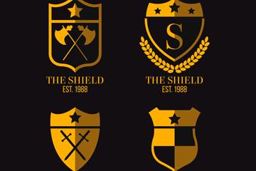 4款金色盾牌设计乐虎国际线上娱乐乐虎国际