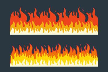 3组创意火焰设计矢量素材