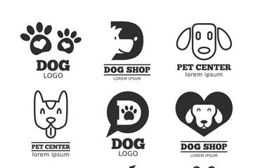 9款创意宠物狗标志矢量图