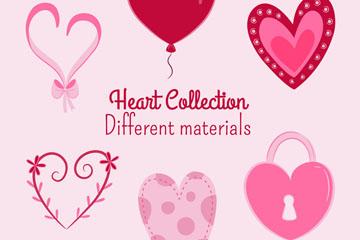 6款创意爱心设计矢量素材