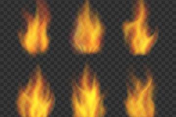 6款逼真火焰设计矢量素材