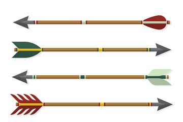 6款创意竹箭设计矢量素材