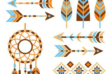 10款创意波西米亚风元素矢量图