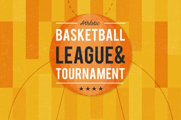 创意篮球联赛海报矢量素材