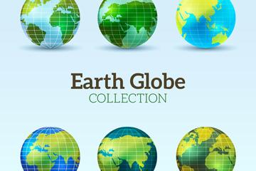 6款创意地球设计矢量素材