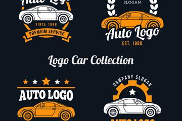 4款创意车辆元素标志乐虎国际线上娱乐乐虎国际