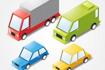 4款立体车辆设计矢量素材