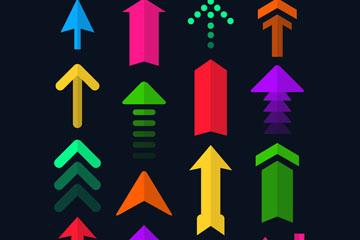 16款彩色箭头矢量素材