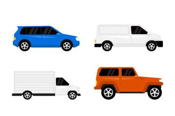 6款时尚车辆侧面矢量素材