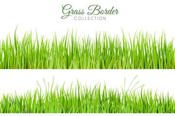 3款清新绿色草丛设计矢量素材