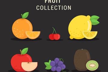 6款新鲜水果矢量素材