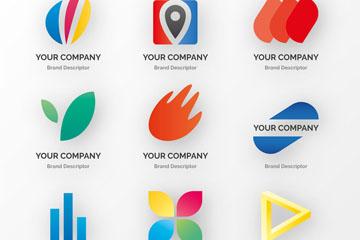9款创意商务标志矢量素材