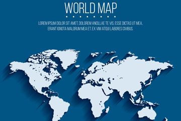创意质感世界地图矢量素材