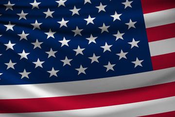 逼真美国国旗矢量梦之城娱乐