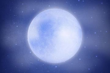 夜空中明亮的月亮矢量素材