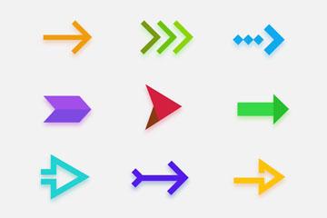 12款彩色箭头图标矢量素材