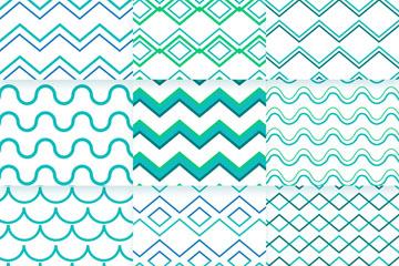 9款创意波浪纹背景矢量素材