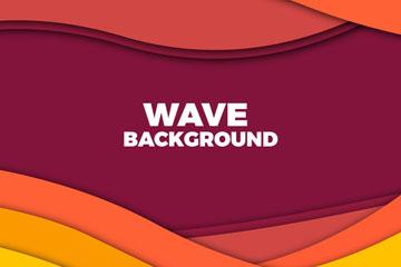 抽象彩色波浪背景矢量素材