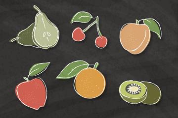 6款手绘水果矢量素材