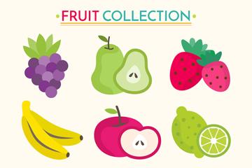 9款彩色新鲜水果亚虎娱乐网址矢量亚虎国际