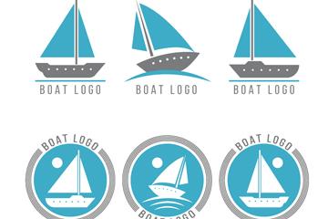6款创意船舶标志矢量素材