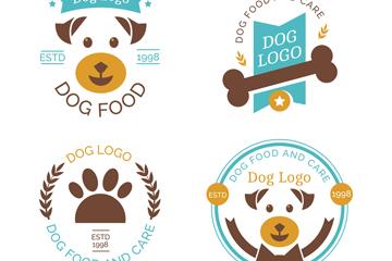 4款创意宠物狗商务标志矢量图