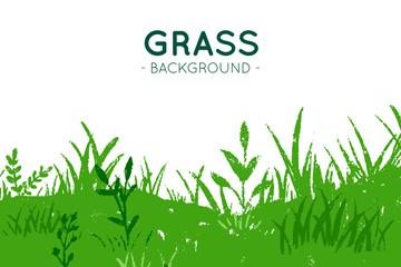 绿色草地设计矢量素材