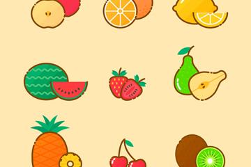 9款美味水果设计矢量素材