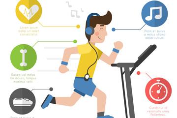 创意健身男子信息图矢量素材