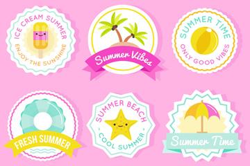 6款可爱夏季徽章乐虎国际线上娱乐乐虎国际